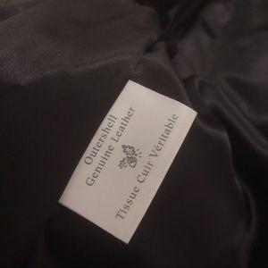 Danier Jackets & Coats - Vintage Danier 90s black leather jacket gold small